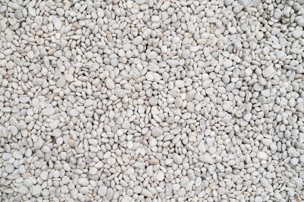White gravel surface