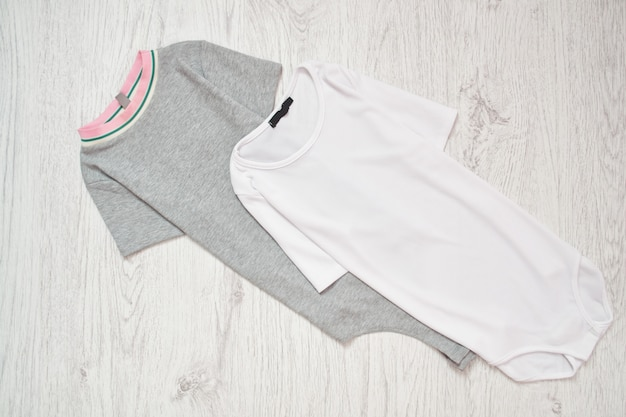 White and gray baby body. fashionable concept