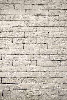 白灰色のグランジのレンガの壁の背景