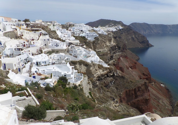 White greek islands style architecture