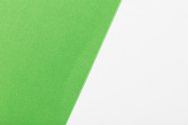 White and green  paper background