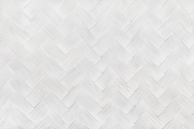 White grey bamboo weaving pattern, old woven rattan wall texture for background and design art work.