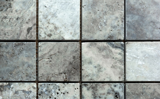 White and grey marble from squares