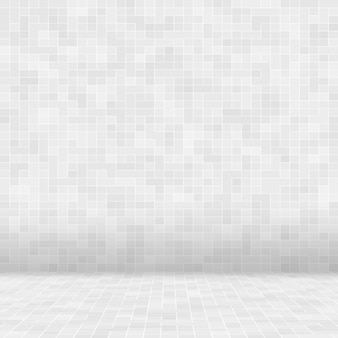 White and grey the tile wall high resolution wallpaper or brick seamless and texture interior Premium Photo