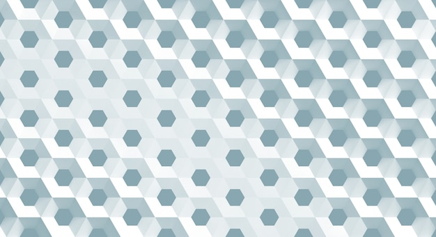 The white grid of cells in the form of hexagonal honeycombs with different diameter,3d illustration