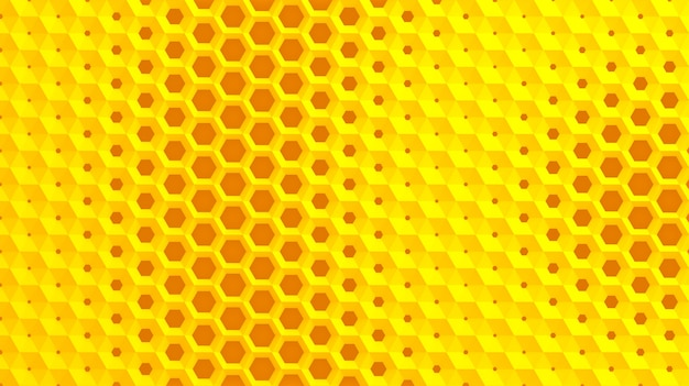 The white grid of cells in the form of hexagonal honeycombs with different diameter, which go from larger to smaller and in reverse