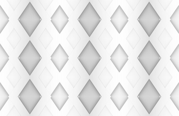 White grid square paper art background.