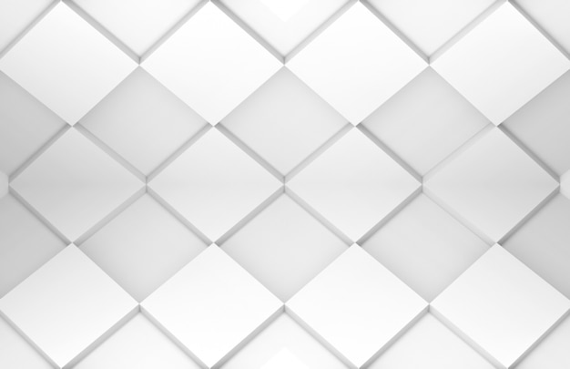 White grid square tile art pattern texture wall.