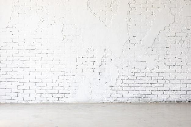 흰색 그런 지 벽돌 벽 질감 배경입니다. 배너 디자인을 위한 배경을 조롱합니다.