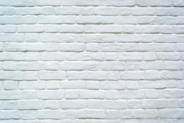 White grunge old brick wall for texture or background