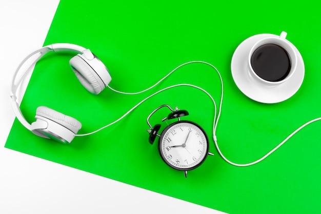 White headphones with cord