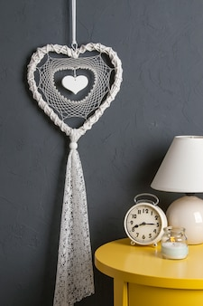 White heart dream catcher