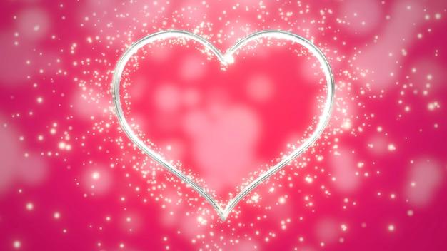 Белые сердца любви с блестками, красный свадебный фон. элегантный и роскошный пастельный стиль 3d иллюстрации