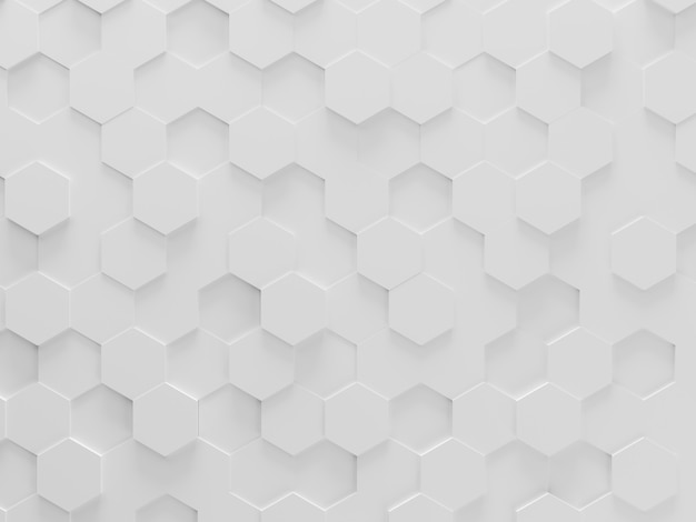 White hexagons mosaic background