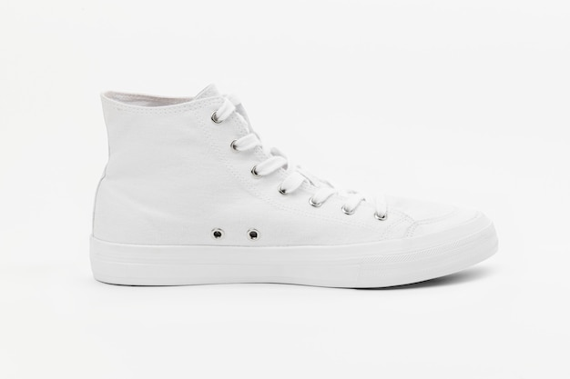 White high top sneakers unisex footwear fashion