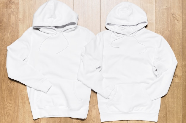 White hoodie collection