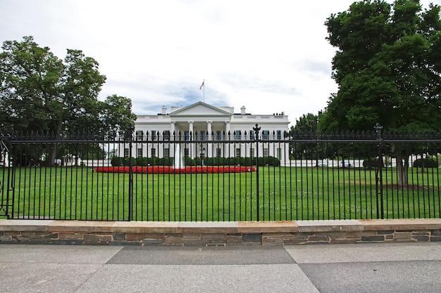 White house in washington of united states