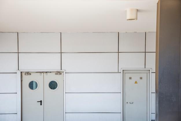 White indoors doors