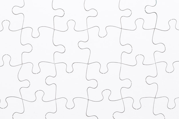 Белый фон сетки головоломки Premium Фотографии