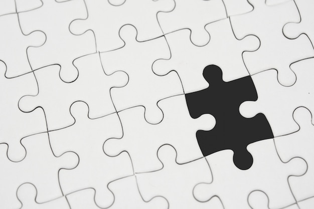 White jigsaw puzzle without a piece
