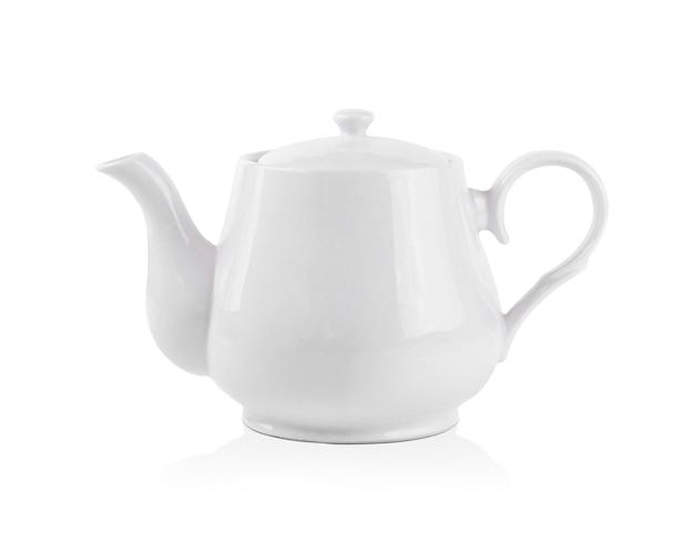 White kettle on white