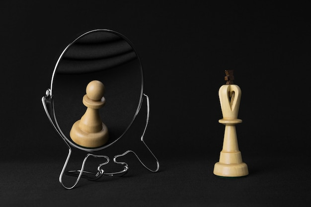 White king sees a white pawn in the mirror