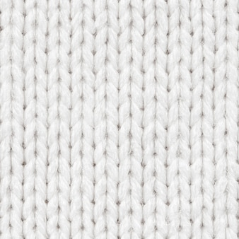 White knitted fabric seamless pattern for borderless fill. knitted fabric repeating pattern