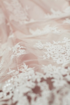 Of white lace fabric. texture