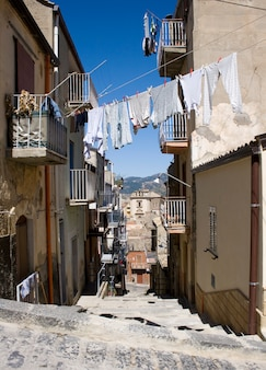 White laundry hanging to dry, leonforte