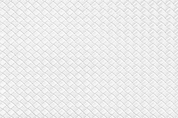 White leather background with imitation weave texture. glossy artificial leather structure.
