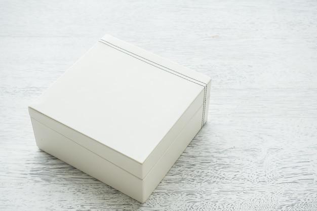 White leather box