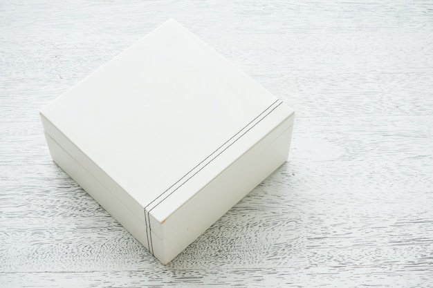 White leather box