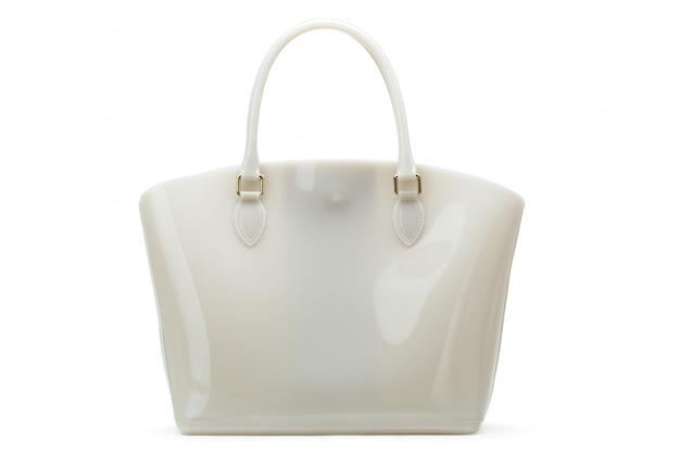 White leather female bag