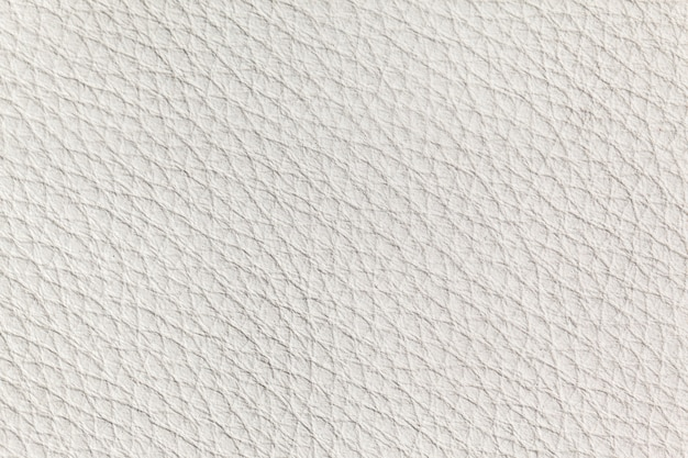 白い革の質感をクローズアップ