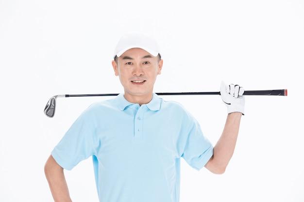 Белый отдых в гольф свинг