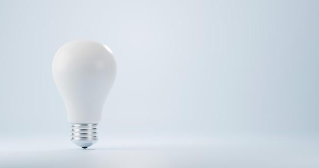 明るい電力エネルギー3dレンダリングイラストの白い電球