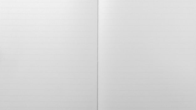 White lined sheet of notepad. - paper background.