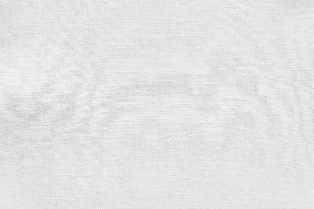 White linen canvas fabric texture background