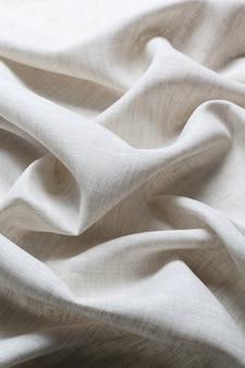 Текстура белого льняного холста