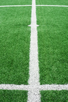 White lines for football field
