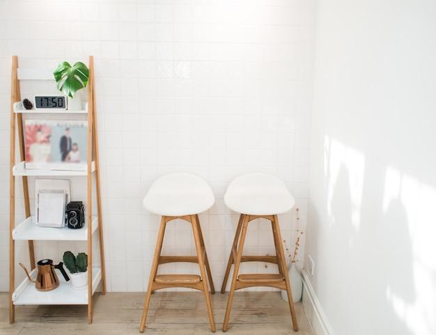 White living room, modern style