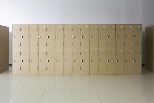 White lockers cabinets furniture