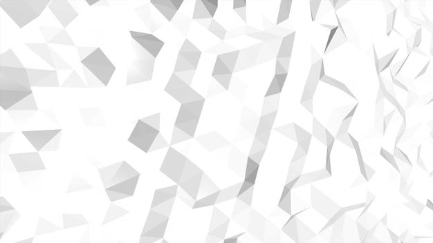 白の低ポリ抽象的な背景、三角形の幾何学的形状。ビジネスのためのエレガントで豪華なダイナミックスタイル、3dイラスト