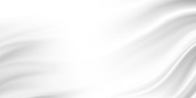 Белый роскошный тканевый фон с копией пространства