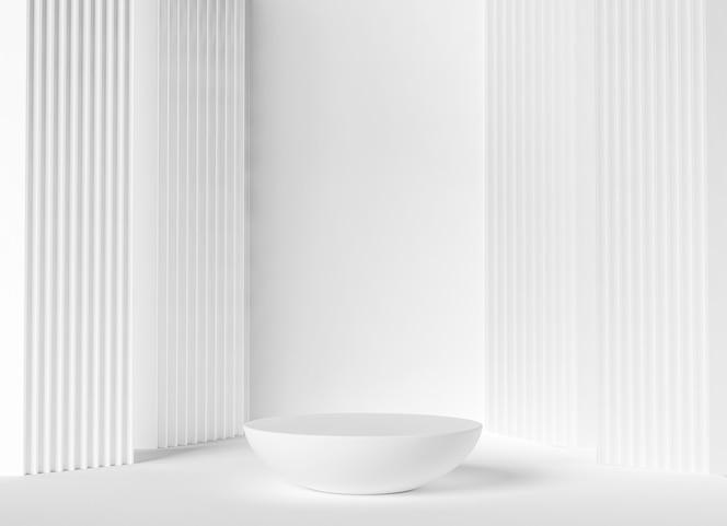 White luxury podium, pedestal to showcase product