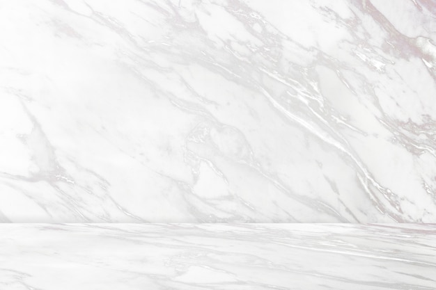 Sfondo del prodotto con motivo in marmo bianco