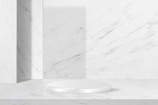 Sfondo di prodotto in marmo bianco sullo sfondo