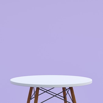 White marble table or product stand for display product on purple background