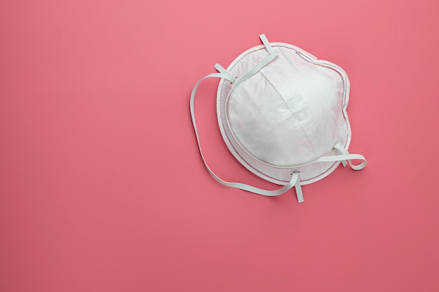 White medical mask isolation. protective face mask against pollution, viruses, flu and coronavirus. health care and surgical concept.