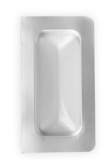 흰색 약 알약 및 정제 흰색 배경에 고립